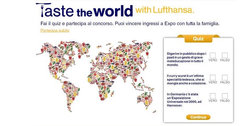 Taste the world with Lufthansa