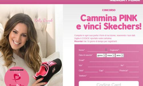 Cammina Pink e vinci Skechers!