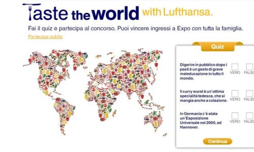 Taste the world with Lufthansa